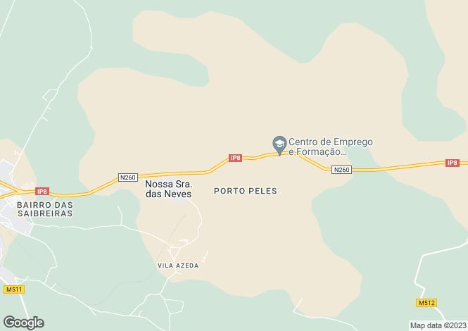 Map for Portugal,Beja,Nossa Senhora das Neves