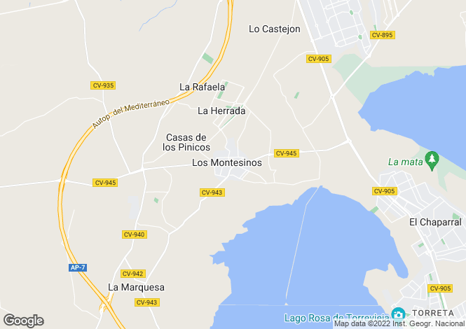 Map for Los Montesinos, Alicante, Valencia
