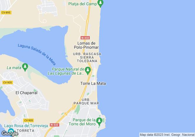 Map for Valencia, Alicante, La Mata
