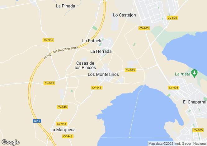 Map for Los Montesinos, Los Montesinos, Alicante