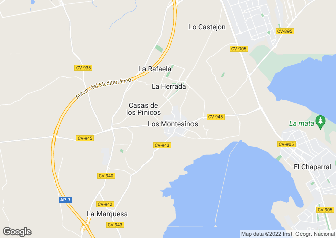 Map for Los montesinos, Alicante