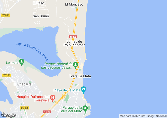 Map for Torrevieja, Alicante