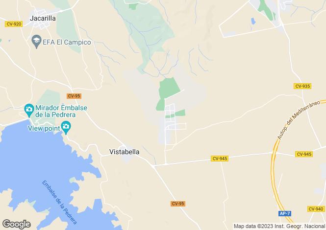 Map for Orihuela, Alicante