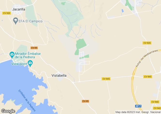 Map for Vistabella, Alicante, Valencia