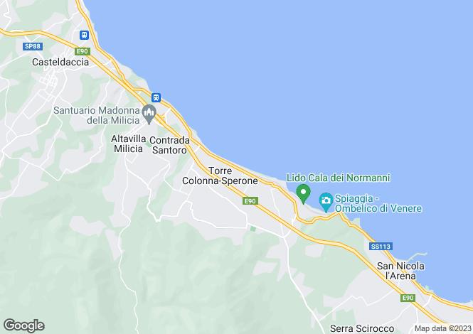 Map for Casteldaccia, Palermo, Sicily