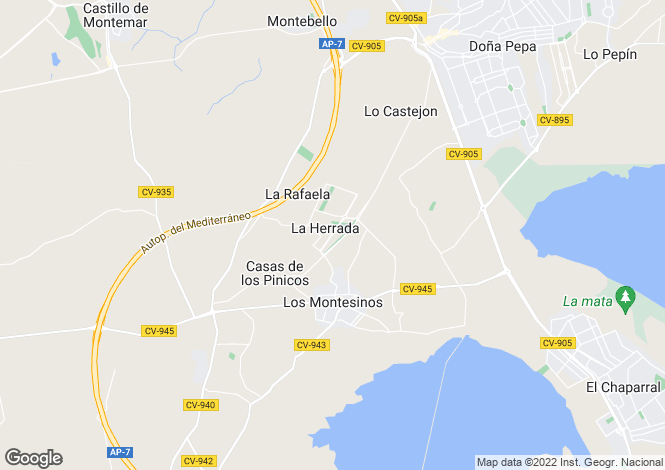 Map for Los Montesinos
