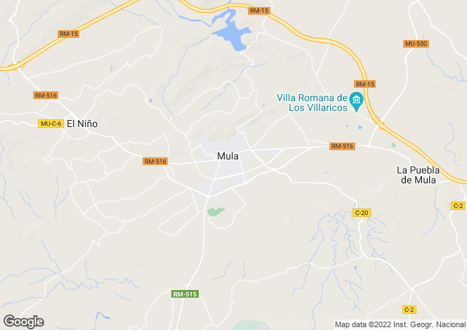 Map for Mula, Murcia, Spain