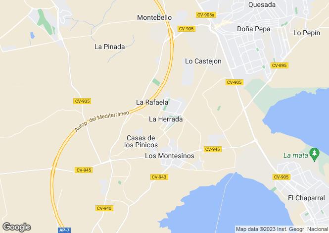 Map for Los montesinos, Alicante
