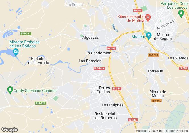 Map for Las Torres de Cotillas, Murcia