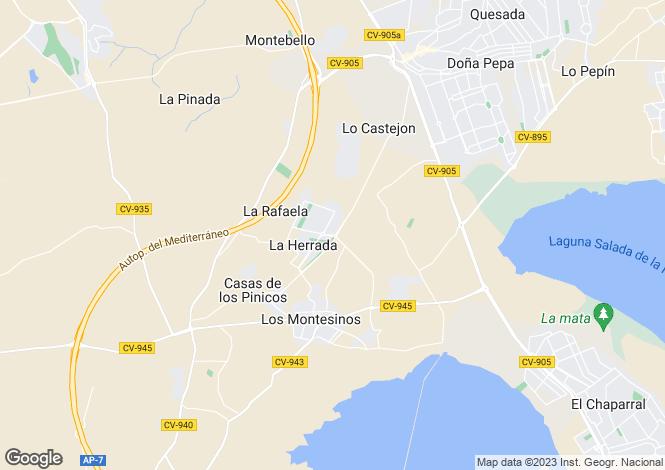 Map for Los Montesinos, Alicante, Spain