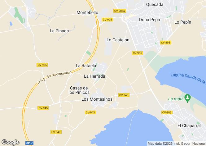 Map for Valencia, Alicante, Los Montesinos