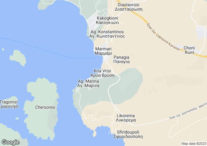 Map for Evvoia, Marmari