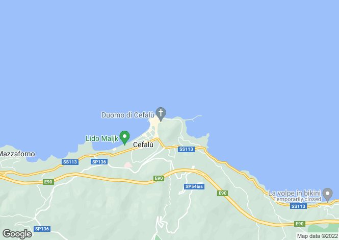 Map for Cefalù, Palermo, Sicily