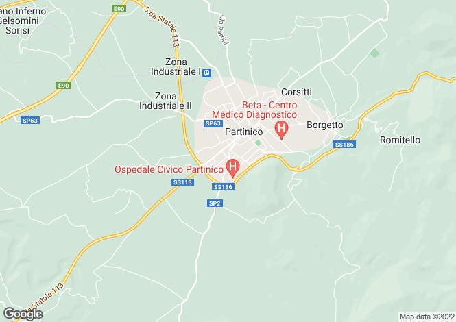 Map for Partinico, Sicily
