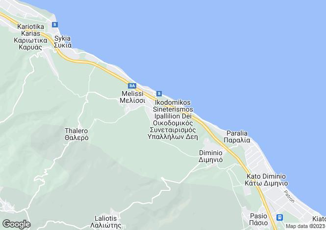 Map for Peloponnese, Corinthia, Laliotis