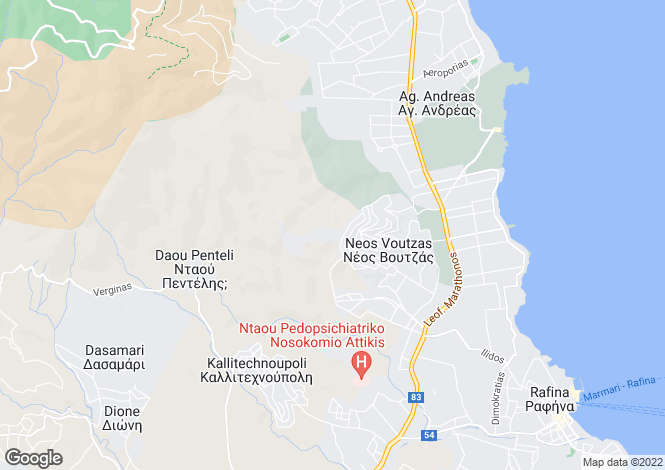 Map for Attica, Nea Makri