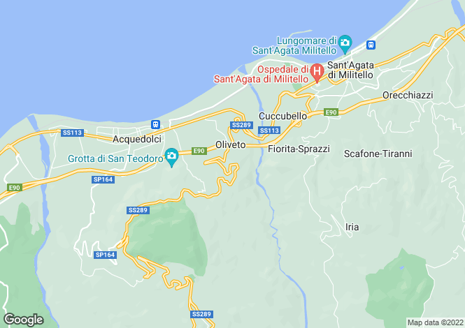 Map for Acquedolci, Messina, Sicily