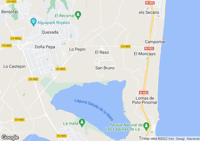 Map for El Raso, Alicante, Spain