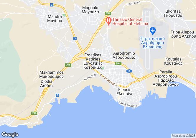 Map for Attica, Elefsina