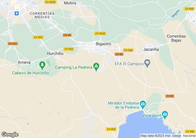 Map for Bigastro, Alicante, Valencia
