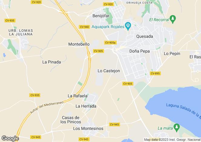 Map for Lo Crispin, Alicante, Spain