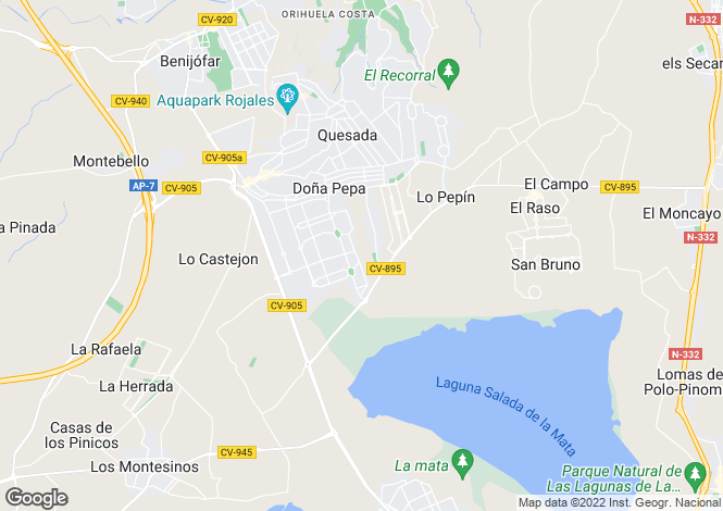 Map for Rojales, Alicante