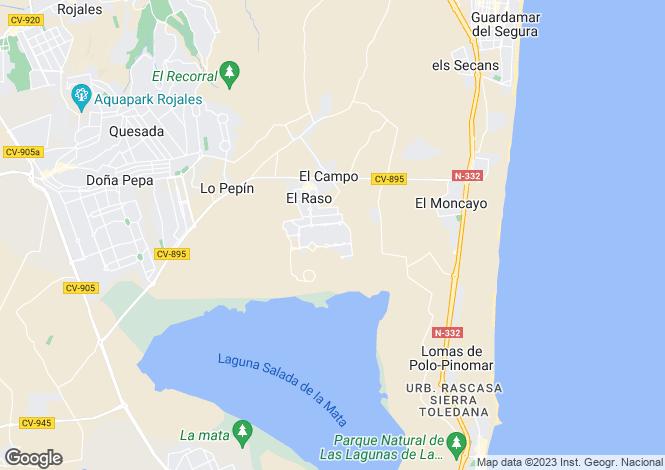 Map for Guadamar, Alicante, Spain