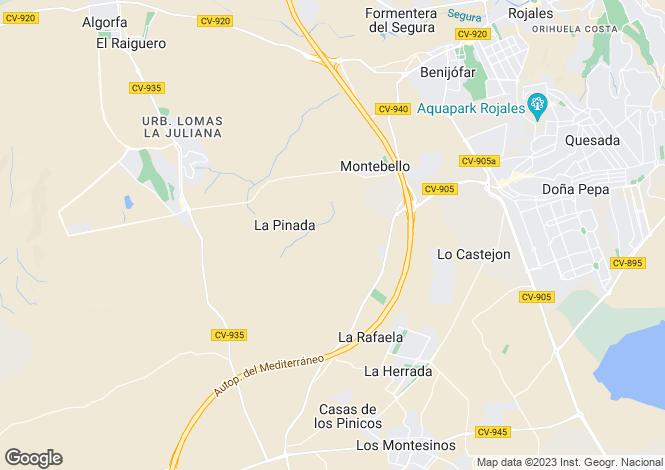 Map for Ctra. Los Montesinos - Algorfa  Km 3 modelo Agaterra 1106, La Finca, Algorfa