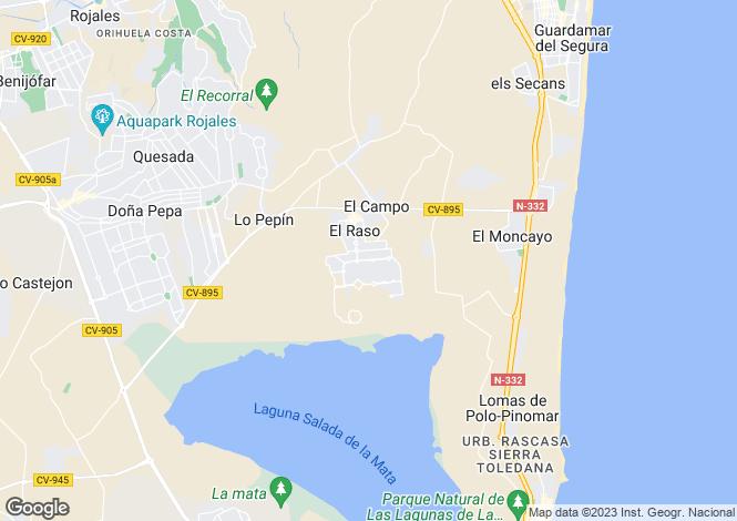 Map for El Raso, Alicante, Spain