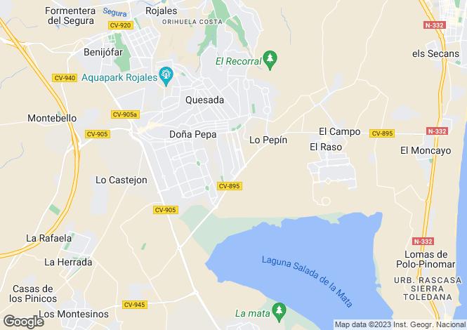 Map for Ciudad Quesada, Rojales, Alicante