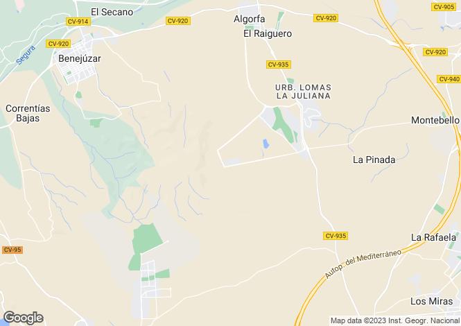 Map for La Finca Golf Resort, Algorfa, Alicante, Spain