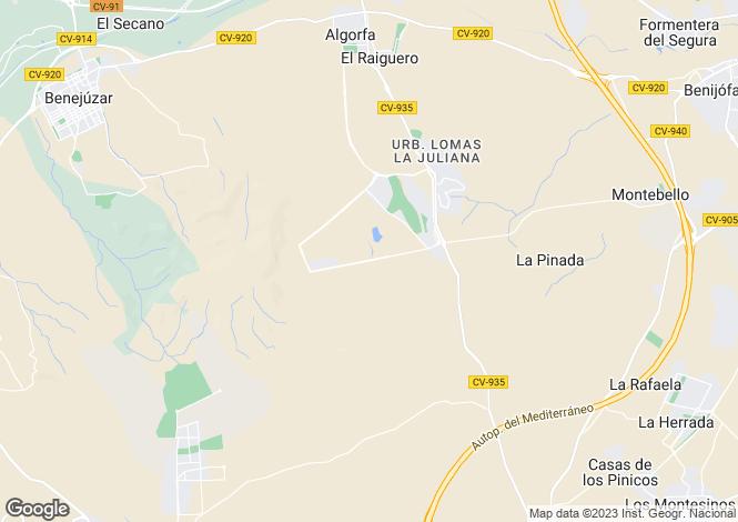 Map for La Finca, Algorfa, Alicante