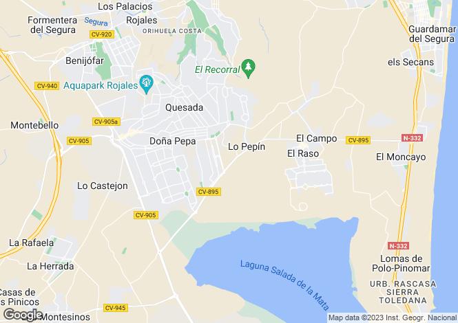Map for Dona Pepa, Alicante, Spain