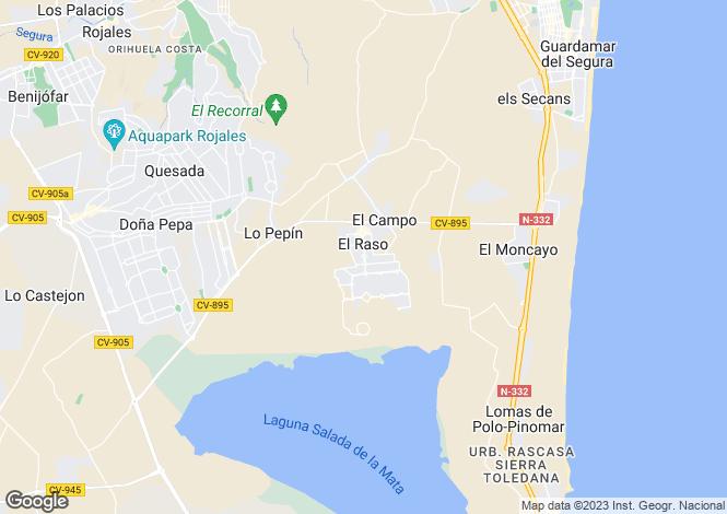 Map for Guardamar, Alicante, Spain