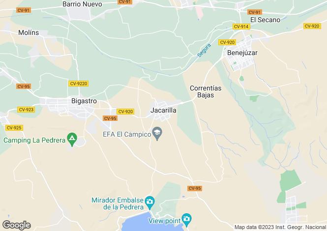 Map for Jacarilla, Alicante, Spain