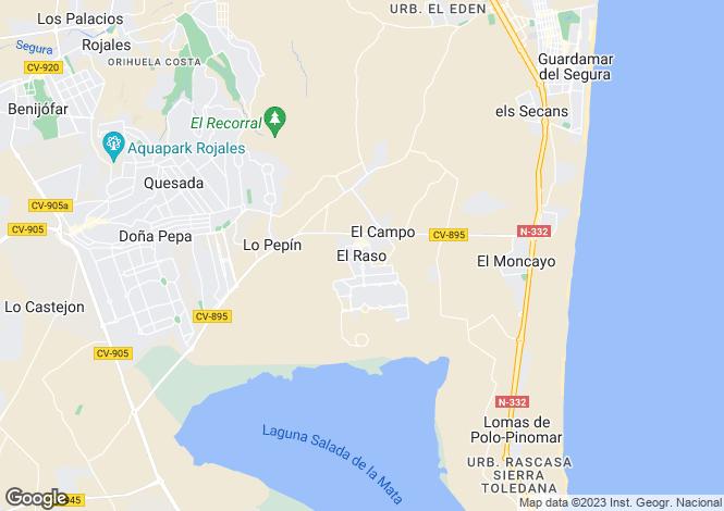 Map for Guardamar Del Segura, Guardamar Del Segura, Alicante, Spain
