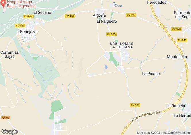 Map for La Finca, Alicante, Spain