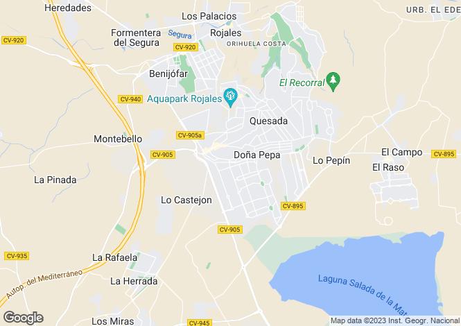 Map for Calle Tarragona 13, Rojales