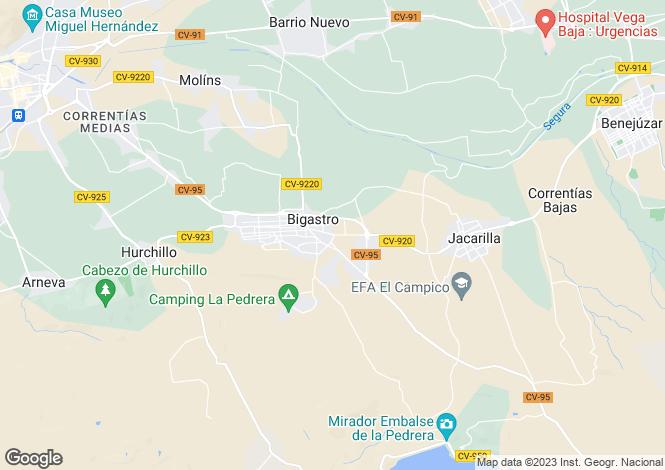 Map for Bigastro, Bigastro, Alicante, Spain