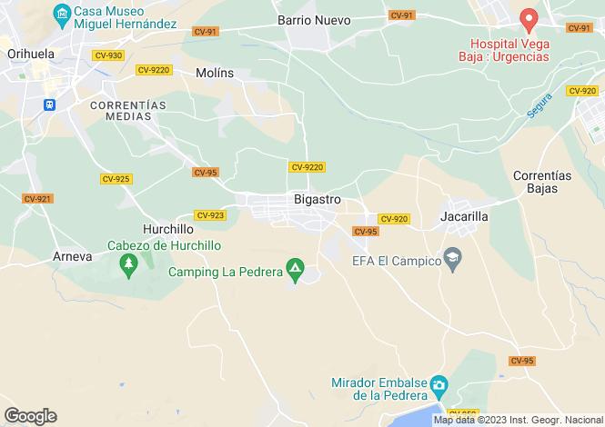 Map for Bigastro, Alicante, Spain