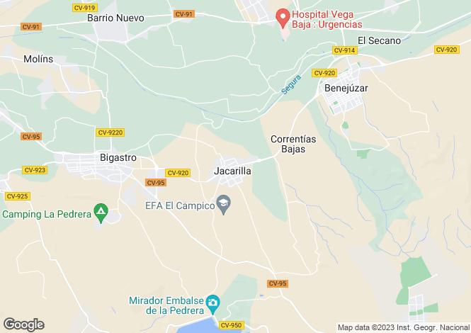 Map for Jacarilla, Alicante, Valencia