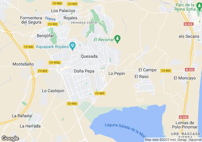 Map for FASE XI - Vivienda 67, Rojales, Rojales