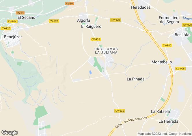 Map for Algorfa, Algorfa, Alicante