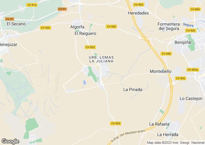Map for Algorfa