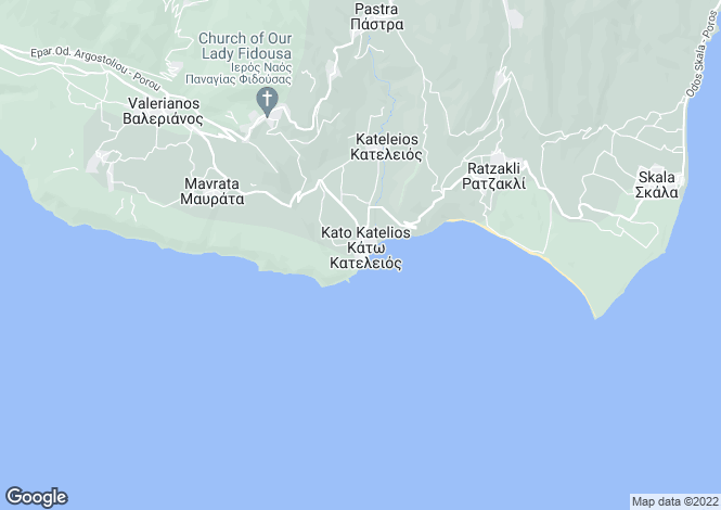 Map for Ionian Islands, Cephalonia, Ano Katelios