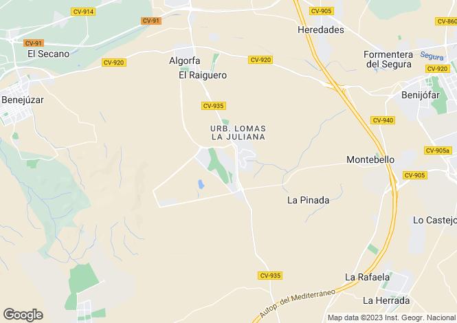 Map for La Finca Golf, Alicante, Valencia