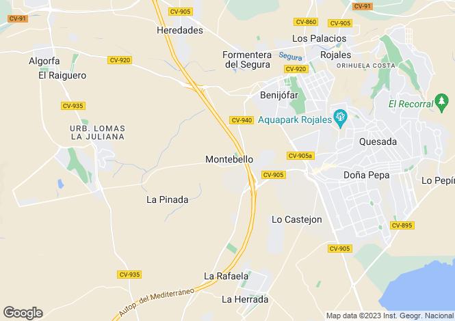 Map for Montebello, Alicante, Spain