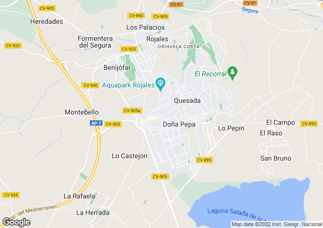 Map for Rojales, Rojales, Alicante