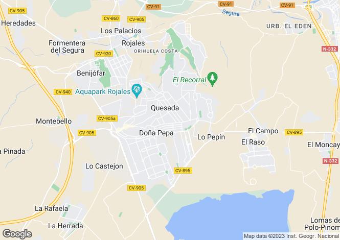 Map for Spain - Valencia, Alicante, Ciudad Quesada