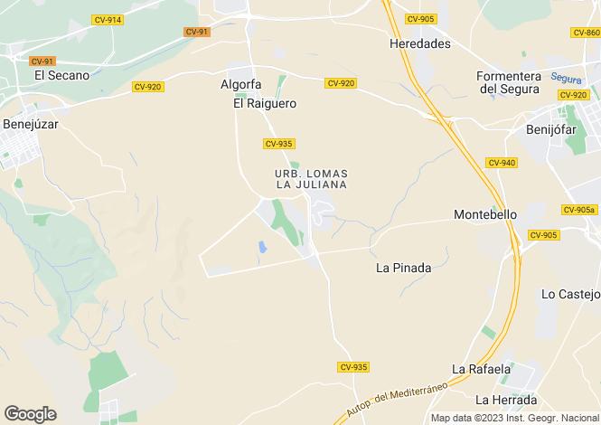 Map for La Finca Golf Resort, Alicante, Spain
